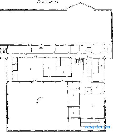 План универмага с площадью